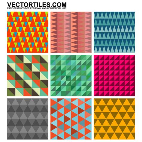 pattern triangle illustrator triangle patterns vector tiles