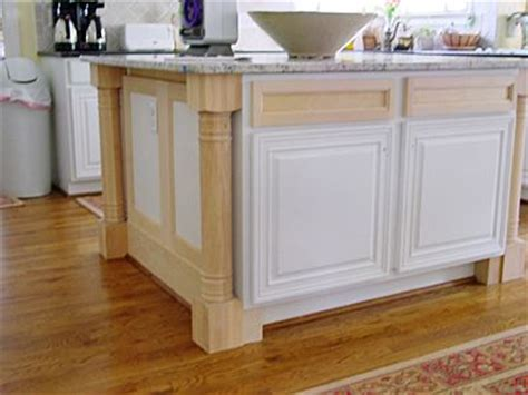 kitchen island legs install legs and trim added to an existing island for my kitchen l wren stock