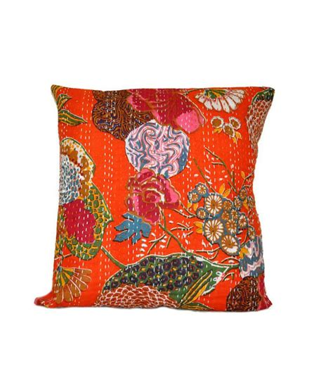 Pillow Handmade - kantha handmade cushion cover best price in india on 8th