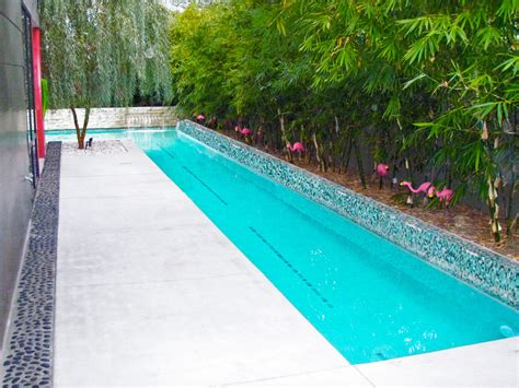inground lap pool small lap pools pool midcentury with stone stone lap