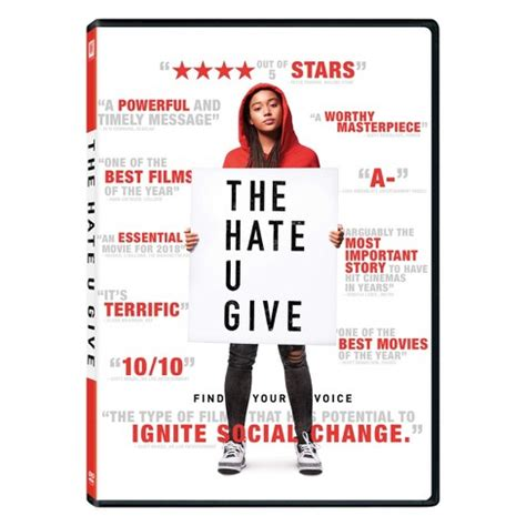 470044 the hate u give the hate u give dvd target