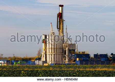 coal bed methane natural gas drilling rig in the green