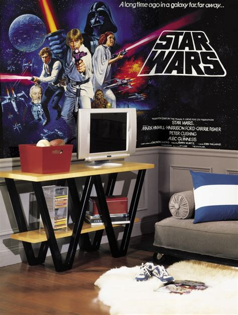 star wars bedroom wallpaper star wars classic chair rail wallpaper mural 6 x 10 5 stickers for wall com