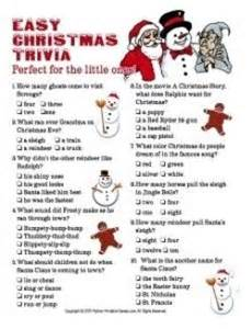 Christmas trivia for parties and families