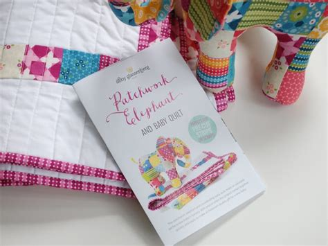 Patchwork Elephant - patchwork elephant and baby quilt print pattern is here
