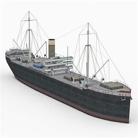 old boat models old cargo ship 3d model cgtrader