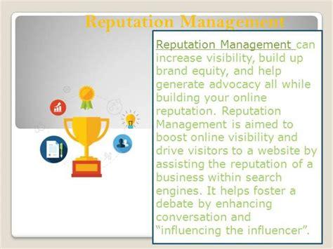 Reputation Management Template Reputation Management Authorstream