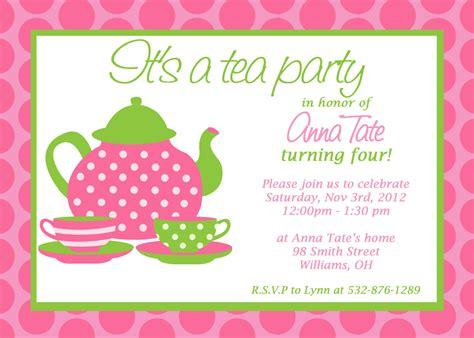Party Invitations: Great Design Tea Party Invitation