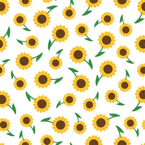 sunflower pattern tumblr sunflowers pattern design vector free download