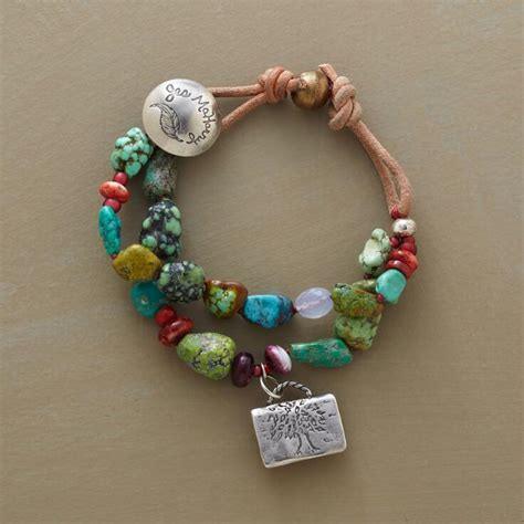 Handmade Jewelry Catalogs - symbol of strength bracelet wrap multi strand