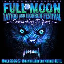 full moon tattoo and horror festival tickets available at the door