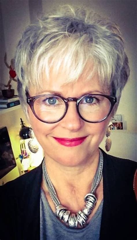 gray hairstyles with glasses 1000 ideas about short grey haircuts on pinterest grey