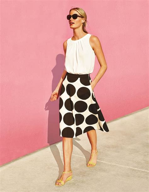 Polka Tile Skirt already the buzz of boden house our new swishy statement skirt comes in spots a mosaic tile