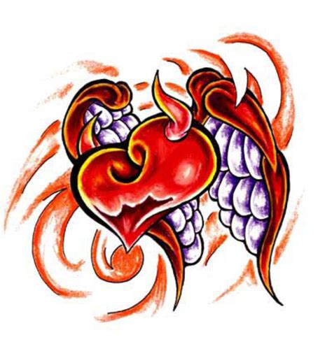 devil heart tattoo designs images designs