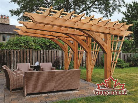 churchville cantilever pergola made with 8x8 western red