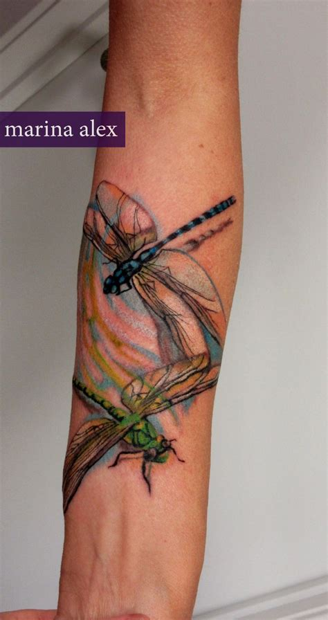 watercolor tattoo ekşi dragonfly watercolor tattoos and i create