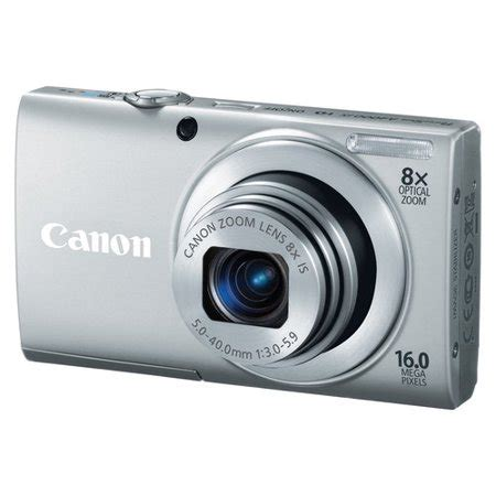 canon powershot a4000 is silver 16mp digital camera w/ 8x