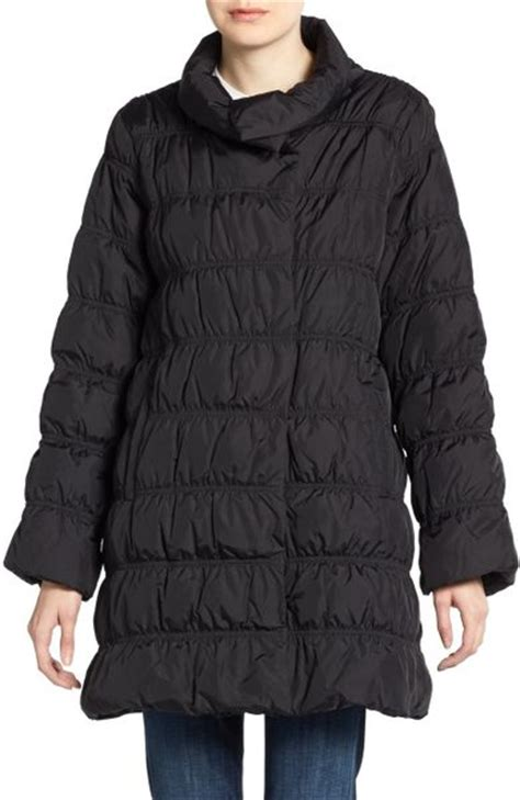 Eileen Fisher Quilted Jacket by Eileen Fisher Quilted Jacket In Black Lyst