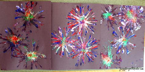 fireworks crafts firework painting juggling with