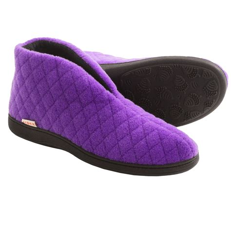 acorn house shoes acorn quilted bootie slippers for women save 81