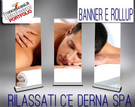 roll up testo grafica banner roll up per spa