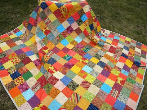 Patchwork Quilt - quilts patchwork bed quilt size 93x93 warm