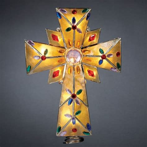 tree topper grand sales lighted amber capiz cross with