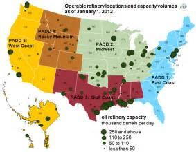 refineries map much of the country s refinery capacity is concentrated