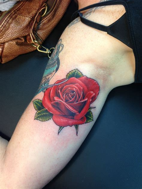 realistic rose tattoo realistic tatted up