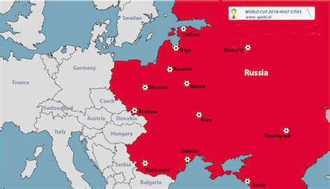 world cup 2018 host cities map russia announces world cup 2018 hosting cities de speld