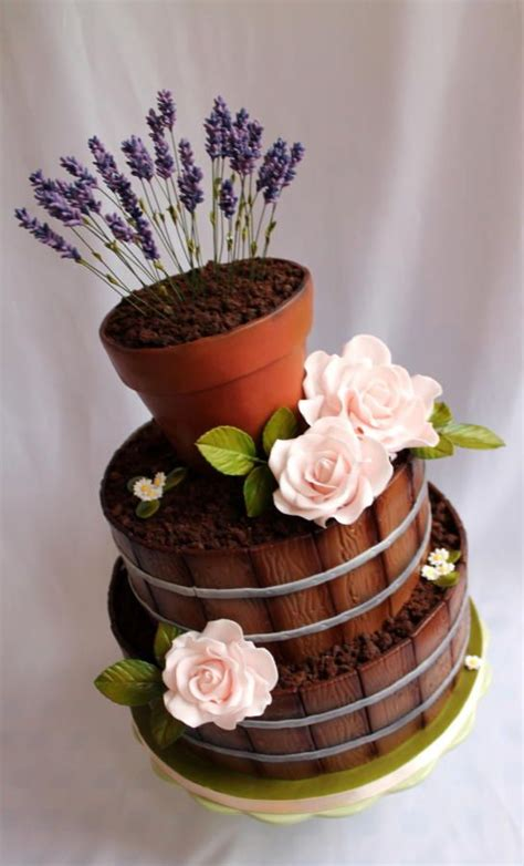 Flower Garden Cake Monacakedesign Pinterest Gardens Editor And Birthdays On Pinterest