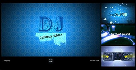 Dj Flash Intro Website Template Best Website Templates Best Dj Website Templates