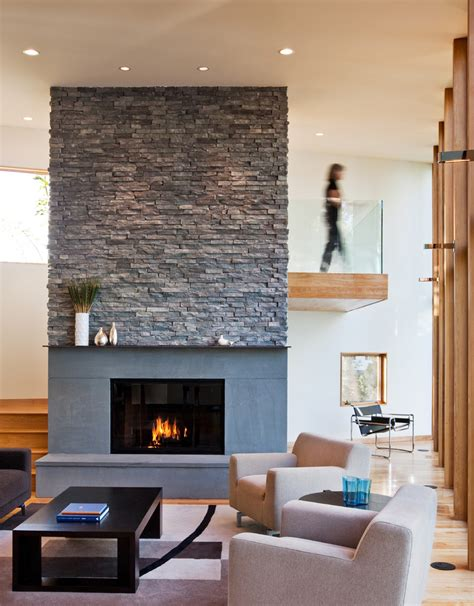 stone fireplace designs Living Room Contemporary with accent wall alexander gerard