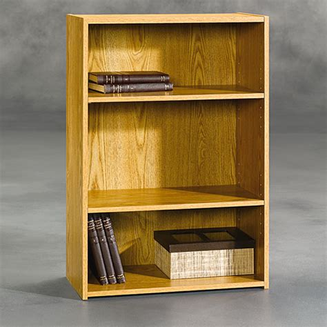 sauder beginnings 3 shelf bookcase sauder beginnings 3 shelf bookcase oak boscov s