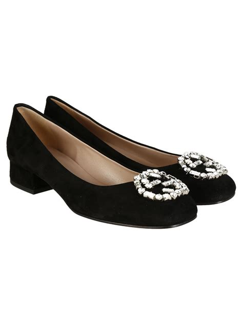 gucci flat shoes for gucci gucci sparkling suede ballet flat shoes 353734