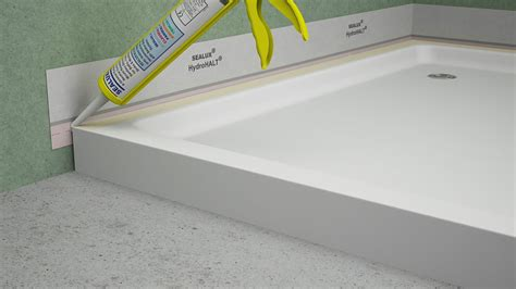 Shower Tray Liner by Fitting A Shower Tray Hydrohalt Installation