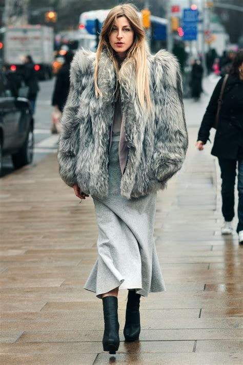 messy boots slang make a real entrance in faux fur strutting in style