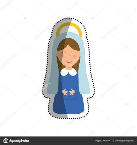 imagenes de la virgen maria animados santa virgen mar 237 a dibujos animados vector de stock