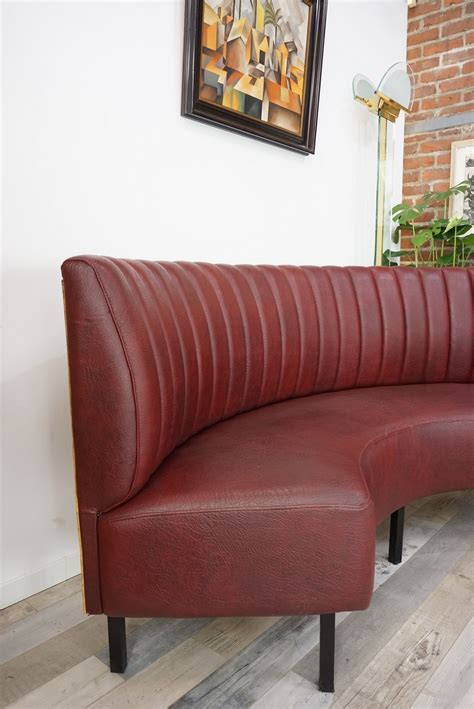Half Sofa by Vintage Half Moon Sofa In Metal And Leatherette Design