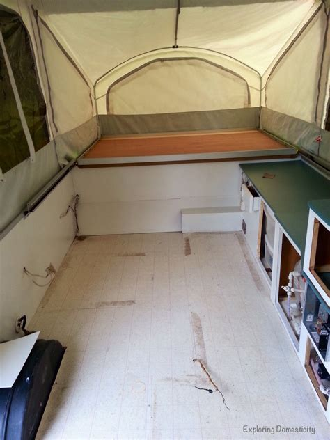 Pop up Camper Remodel: Painting and Flooring ? Exploring