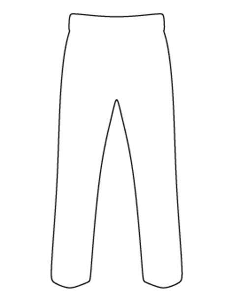 printable pants template free clothing patterns for crafts stencils and more page 2