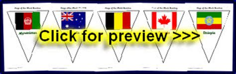 printable flags of the world bunting flags of the world primary teaching resources and