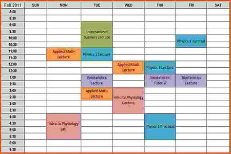 college schedule template weekly office cleaning schedule
