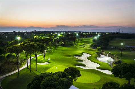 led lighting course the clock golf course tees