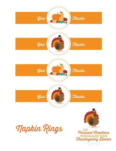 Indian And Pilgrim Photo Place Cards And Napkin Ring Template by Thanksgiving Printables Thanksgiving Napkins And