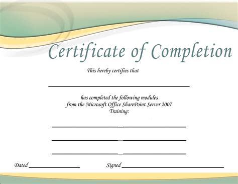 Training Certificate Template Lisamaurodesign Certificate Of Completion Template Free