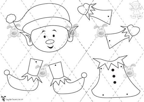 printable elf template elf template cut out search results calendar 2015