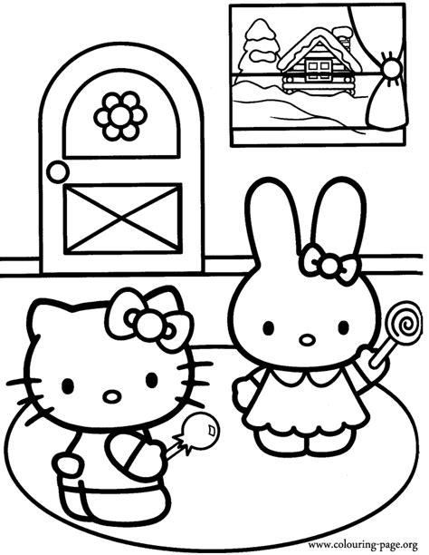 coloring pictures of hello kitty and her friends coloring pages hello kitty and friends