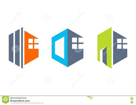 house real estate home logo construction building