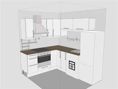 Designing Kitchen Cabinets Layout Stunning Small Kitchen Design Layout With L Shape Kitchen Cabinet And Chrome Custom Range